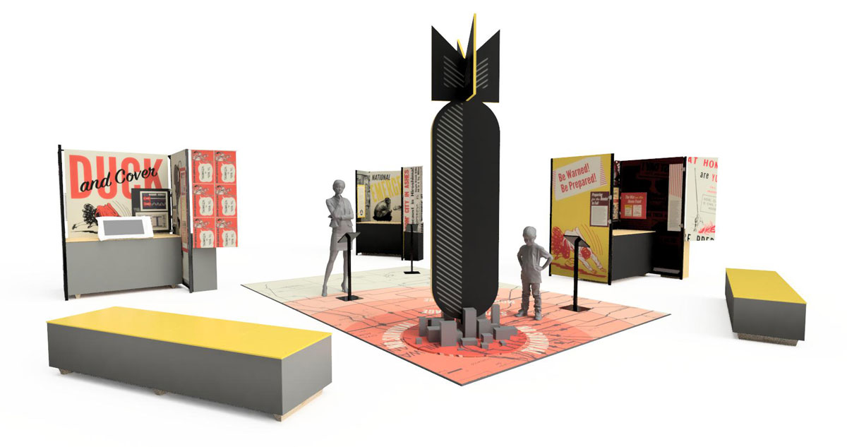 Atomic Alert traveling exhibit rendering side view
