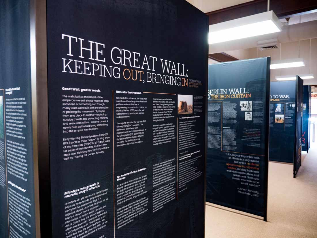 A History of Walls: The Borders We Build traveling exhibit, image 11