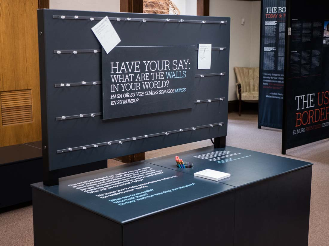 A History of Walls: The Borders We Build traveling exhibit, image 3